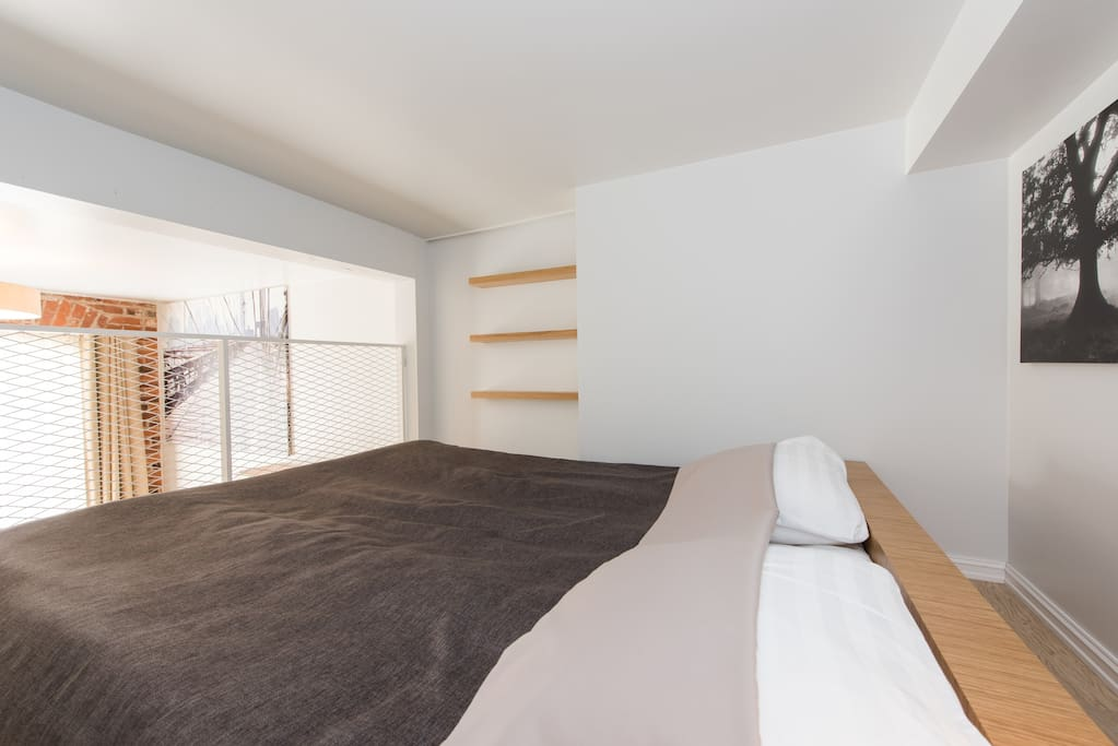 Your flat features high end Estonian design, including your luxurious bed