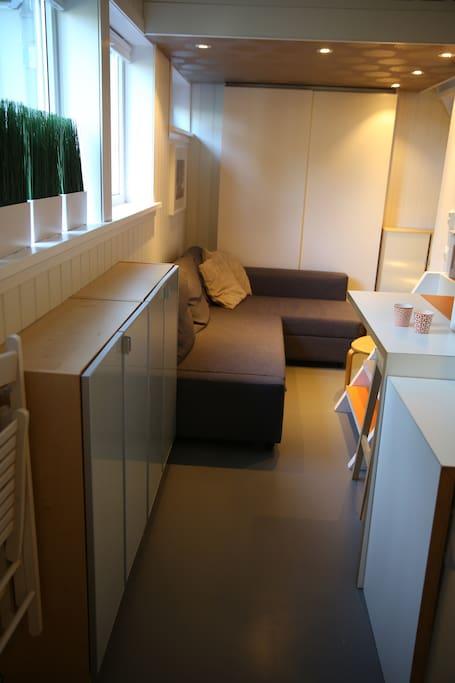 Inspirert av compact living og båtdesign