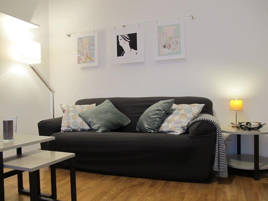 Sofa bed  -divano letto matrimoniale