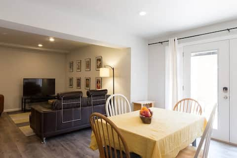 Spacious 2-BR basement apartment close to D.C.