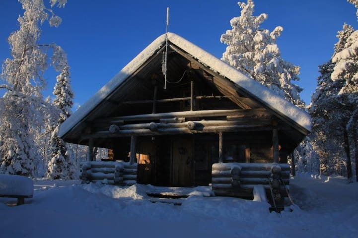 Wilderness cabin Kuxa, kelohirsimökki