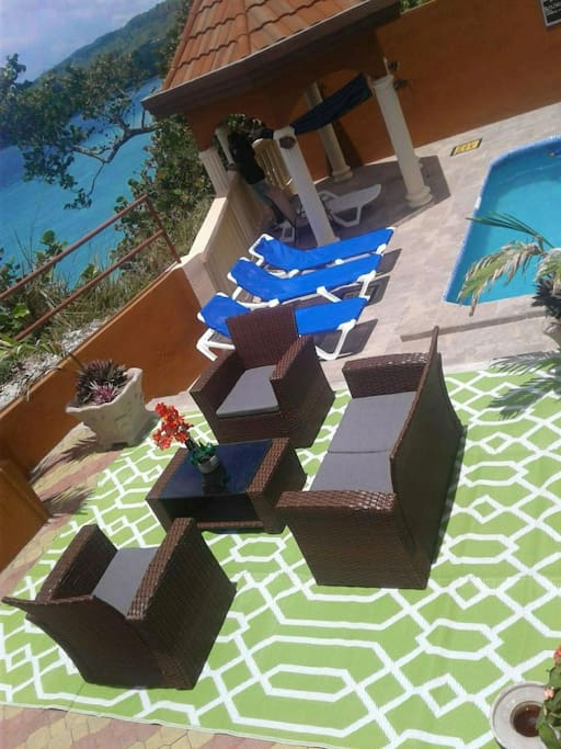Lounge by the pool anytime