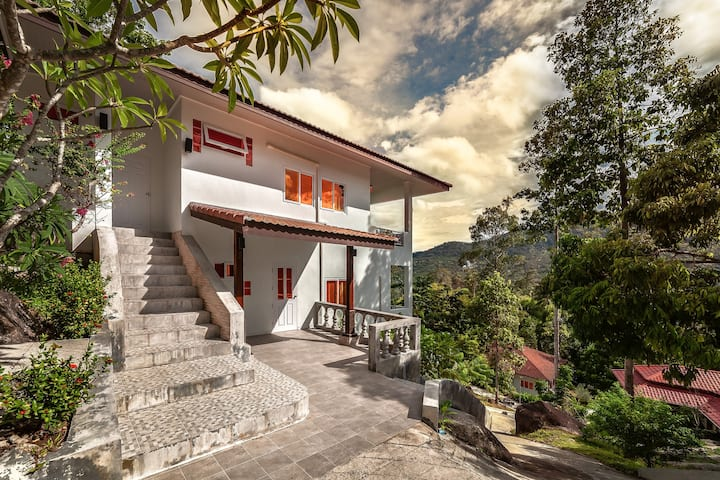 3 bedrooms pets friendly sea view house in Lamai