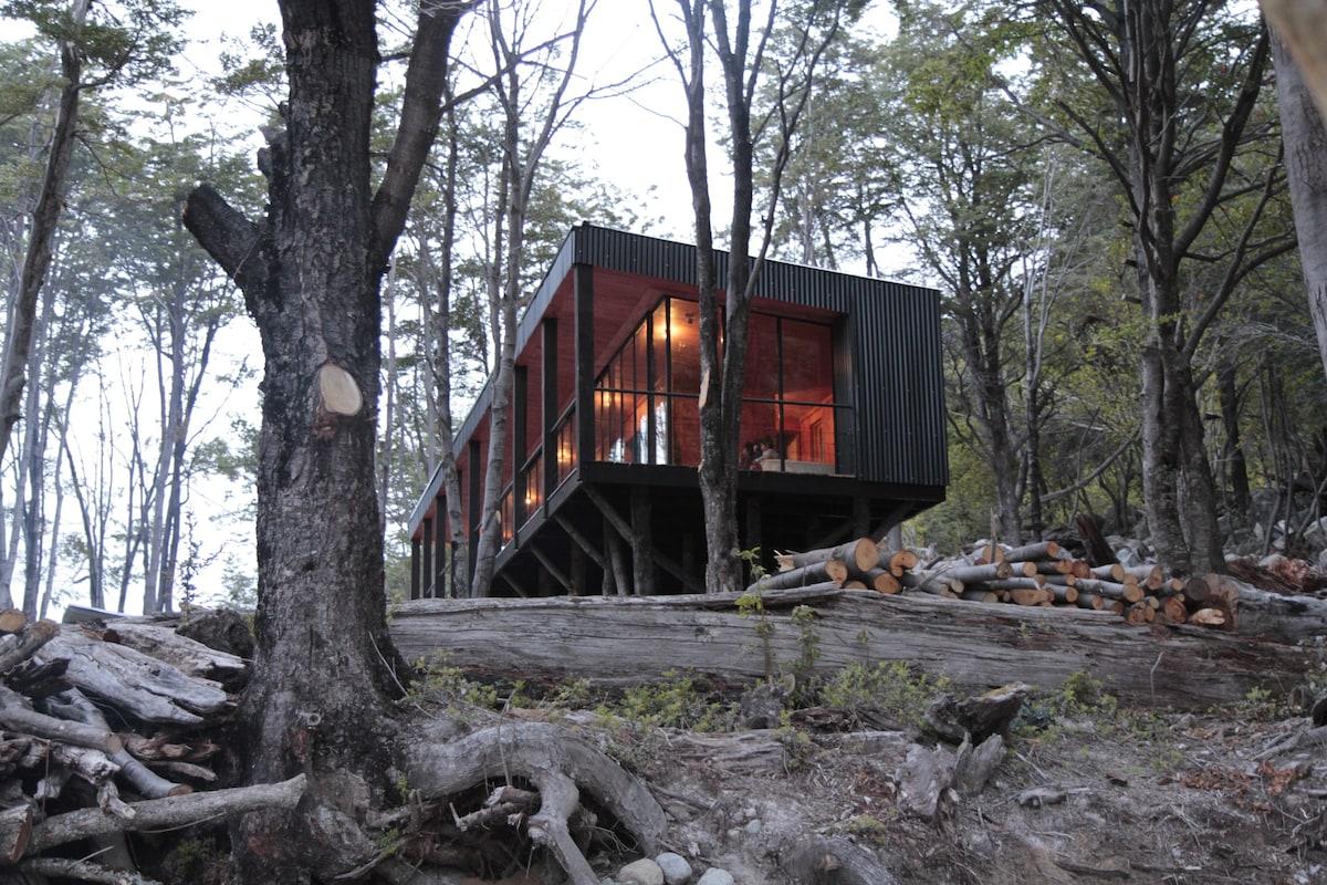 cabaña futaleufu lago espolon airbnb