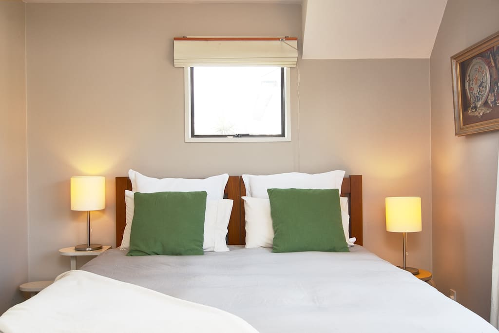 The sea room has a king bed (can be two beds) and glimpses of the sea