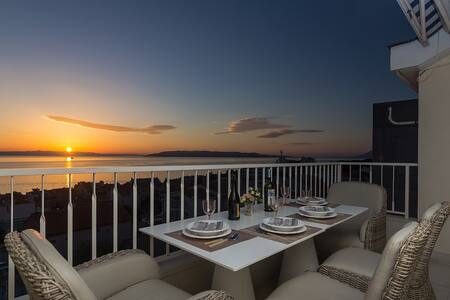 Seaview, chic and comfort 4+2 apartment Makarska - Makarska - Daire