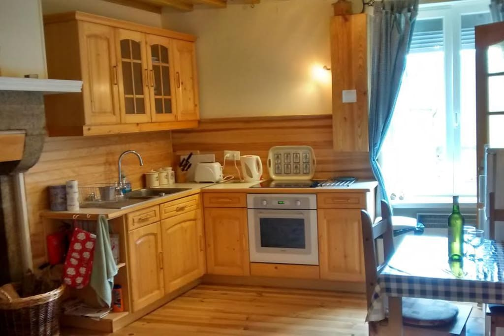 Fully equipped open-plan kitchen