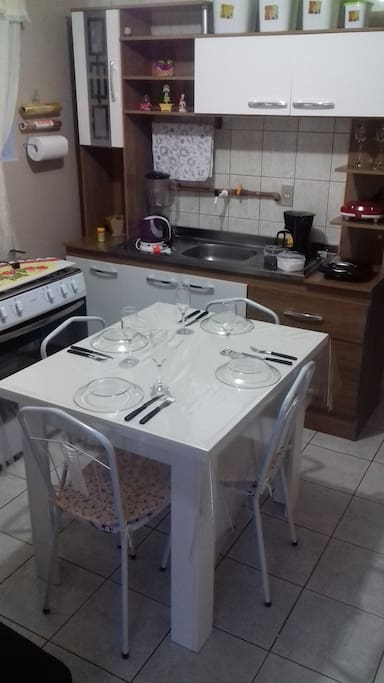 Cozinha e jantar integrado