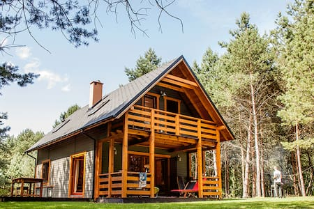 Sarna - cosy wooden house in the Polish forest