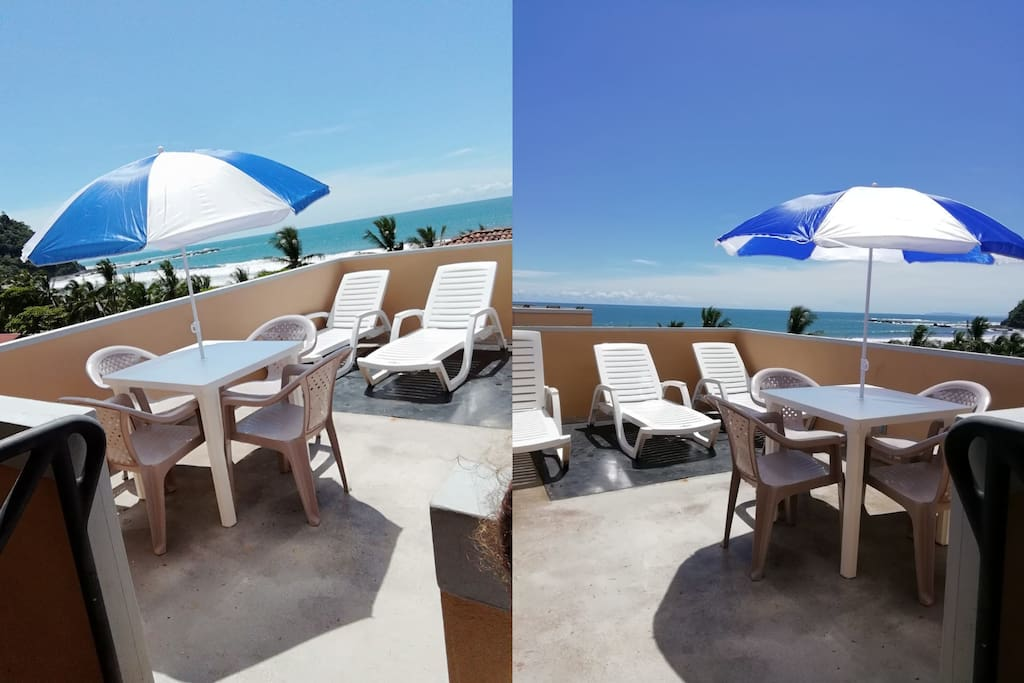 Private Rooftop Terrace - Only the Penthouses have this Private Deck. Sweeping Views of Jaco Beach and the Pacific Ocean.