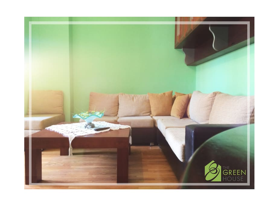 Living Room,(sofa opens into a double bed)