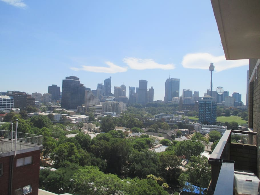View from our balcony of beautiful Sydney skyline