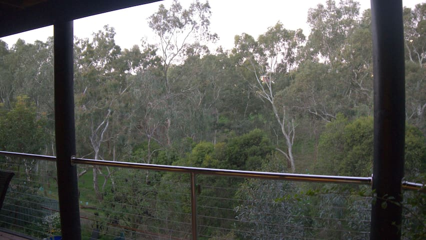 Treehouse cabin with the birds  in the Gumtrees