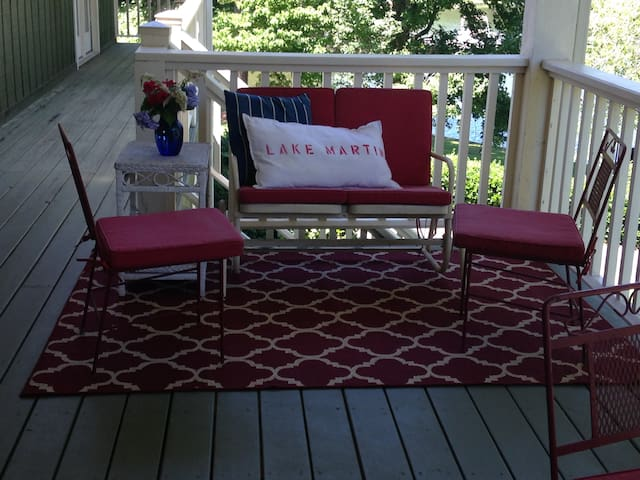 Upstairs covered porch