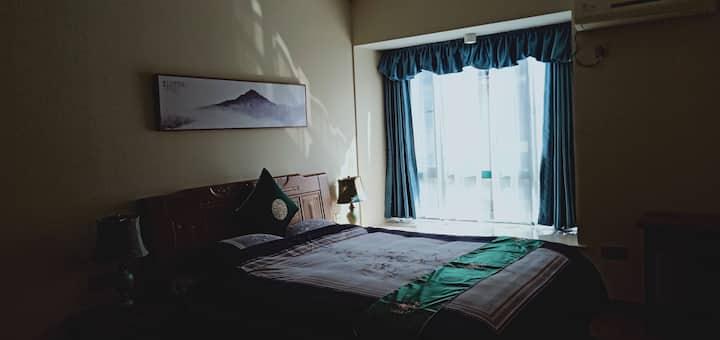 时代广场,同惠对面,体育旁近政府,中式禅意大床房