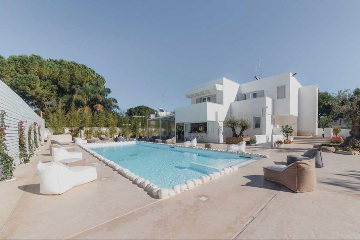 La villa con piscina