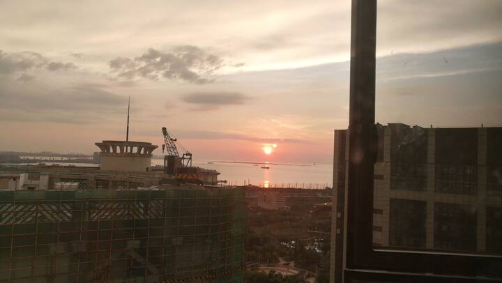 Sunset Ocean City View Apartment城市海景房