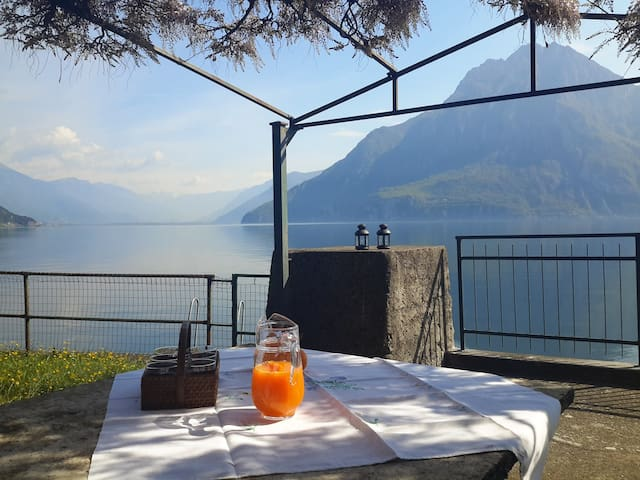 La Villina - Zù con giardino sul lago