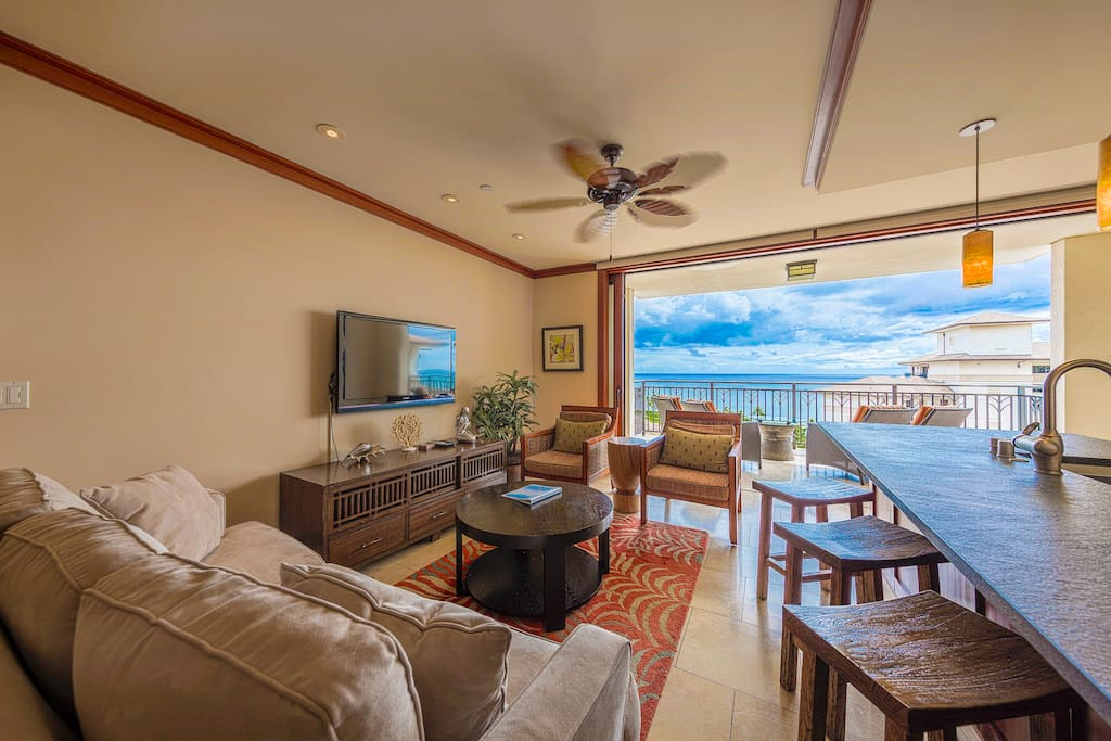 From the living room to ocean view
