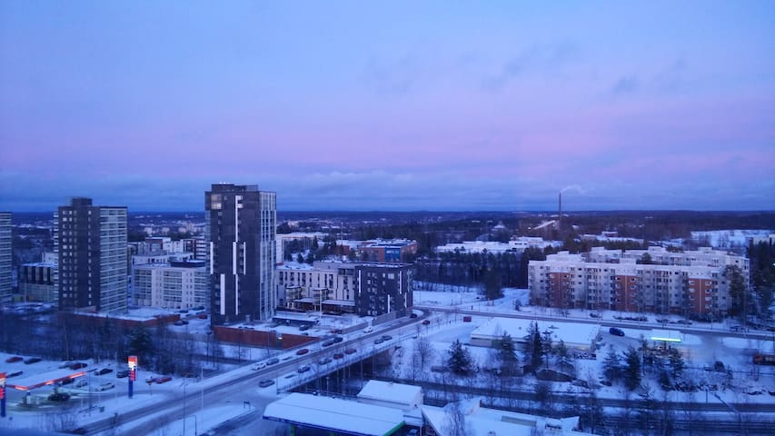 11th floor studio close to public transit - Tampere - Appartement