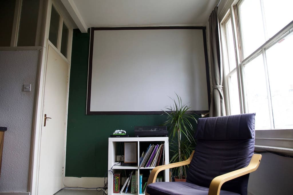 Cinema screen if you want to watch some TV