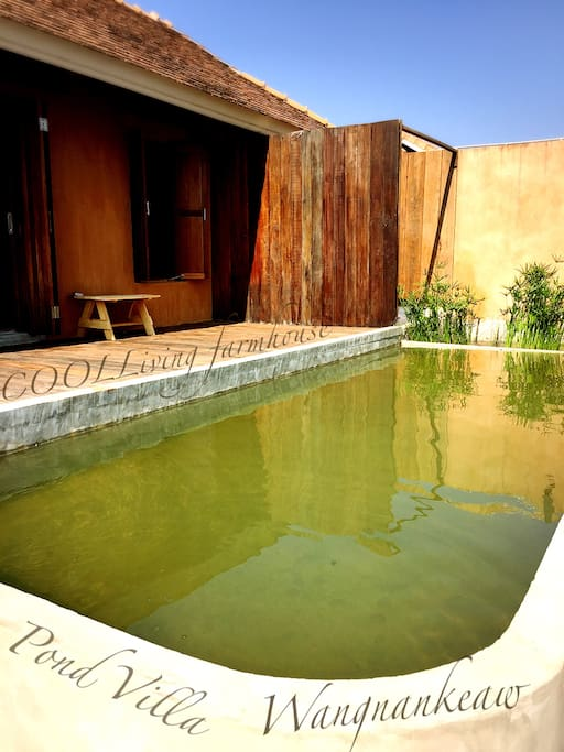 Pond villa bungalo  54sqm, (70sqm include out door bath, shower, pool and terrace.