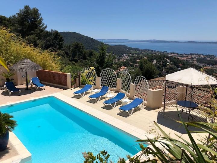 Villa 3*** Vue mer 180° Piscine privée 6 Pers.