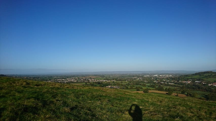 Stunning views from Selsley Common, Stroud, over towards the River Severn.
