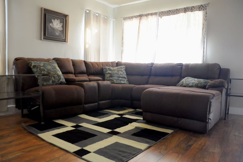 Spacious Living area. Prime for relaxation, TV watching or entertaining