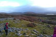 The Burren National park with many walking trails