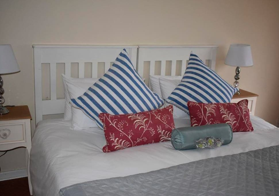 One of the bedrooms at Harrow Cottage