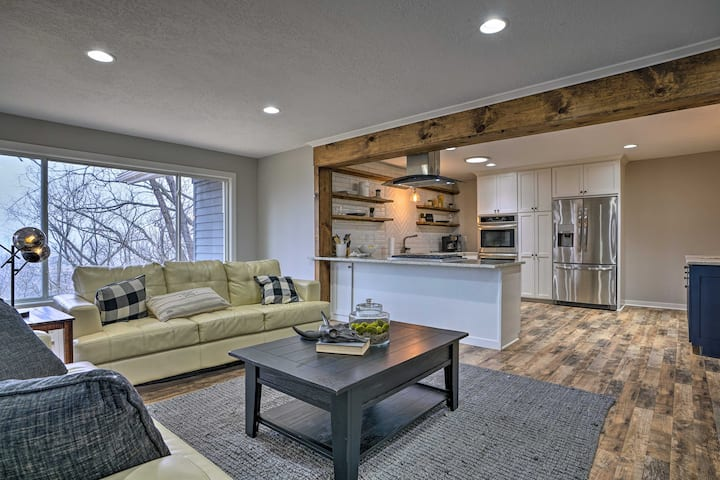 NEW! Chic Chaska Retreat w/ Deck Overlooking Dtwn!