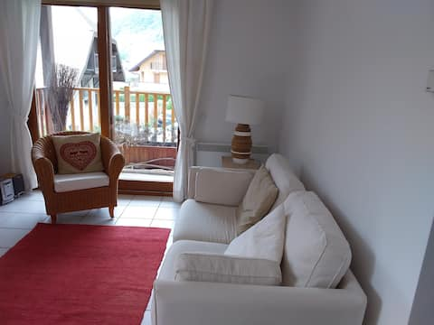 Appartement Cosy avec vue montagne et château