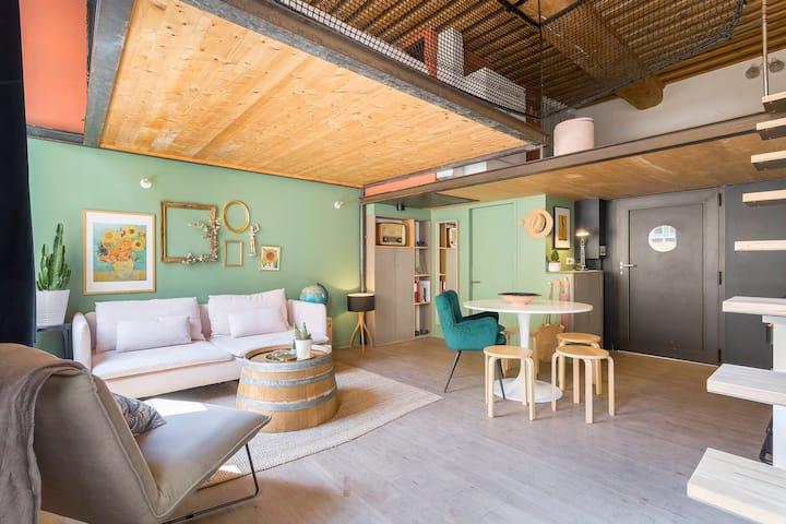 Loft d'architecte en duplex - Pentes de la XRousse