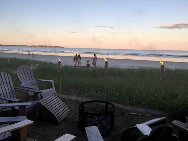Convenience of lodging and relaxing right on the beach!