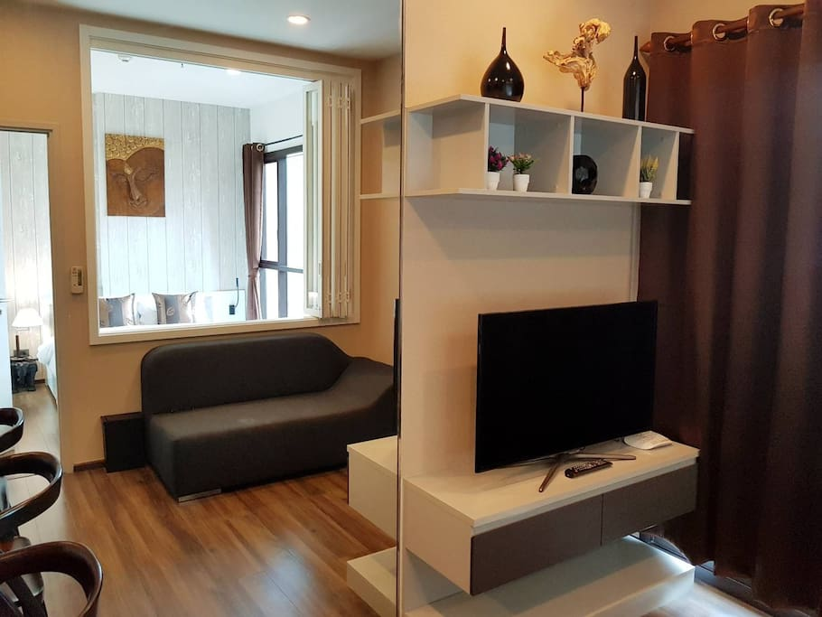 Living room and smart TV