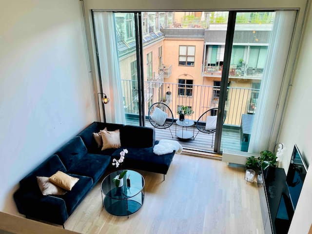 Newly refurnished !!  Living room view from Mezzanine