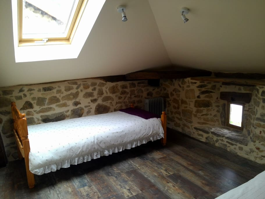 Single bed also in large bedroom
