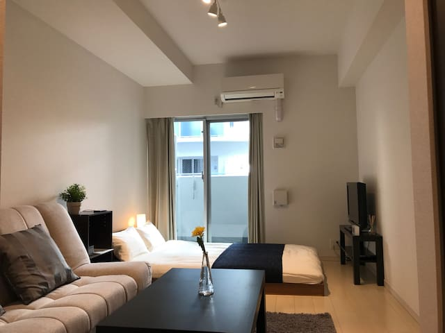 New Apt! 2min St★Nearby Shinsaibashi/Namba - Chuo Ward, Osaka - Appartement