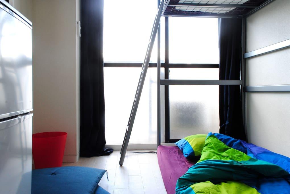 Futon and Loft Bed