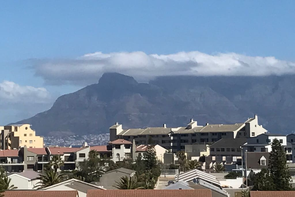 View of Table Bay and Table Mountain.