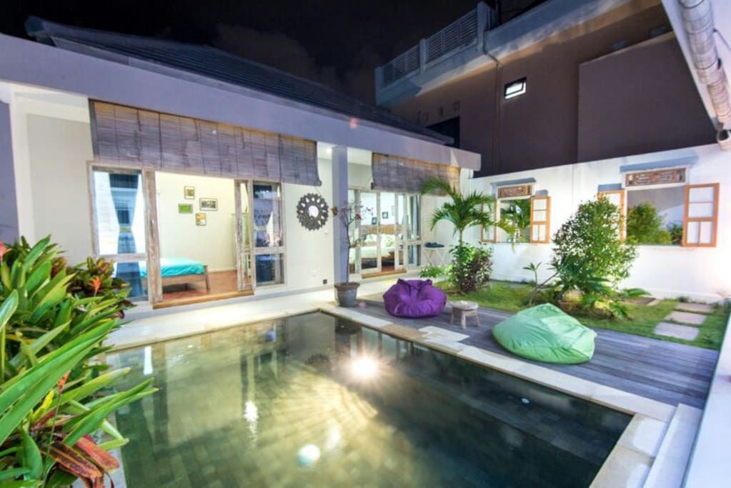 Pool view to Bedrooms