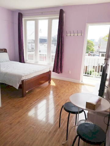 Brightly Mater room with Own bathroom & balcony