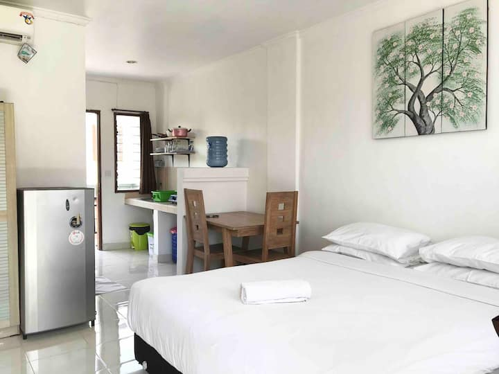 Clean and Bright Studio Apartment in Seminyak