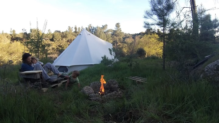 Tent by the waterfall at Garden X