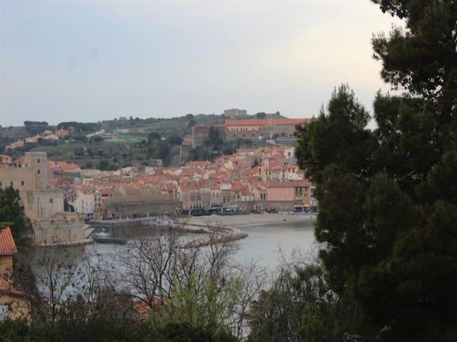 Appartement 4 personnes avec terrasse parking et piscine collective à Collioure