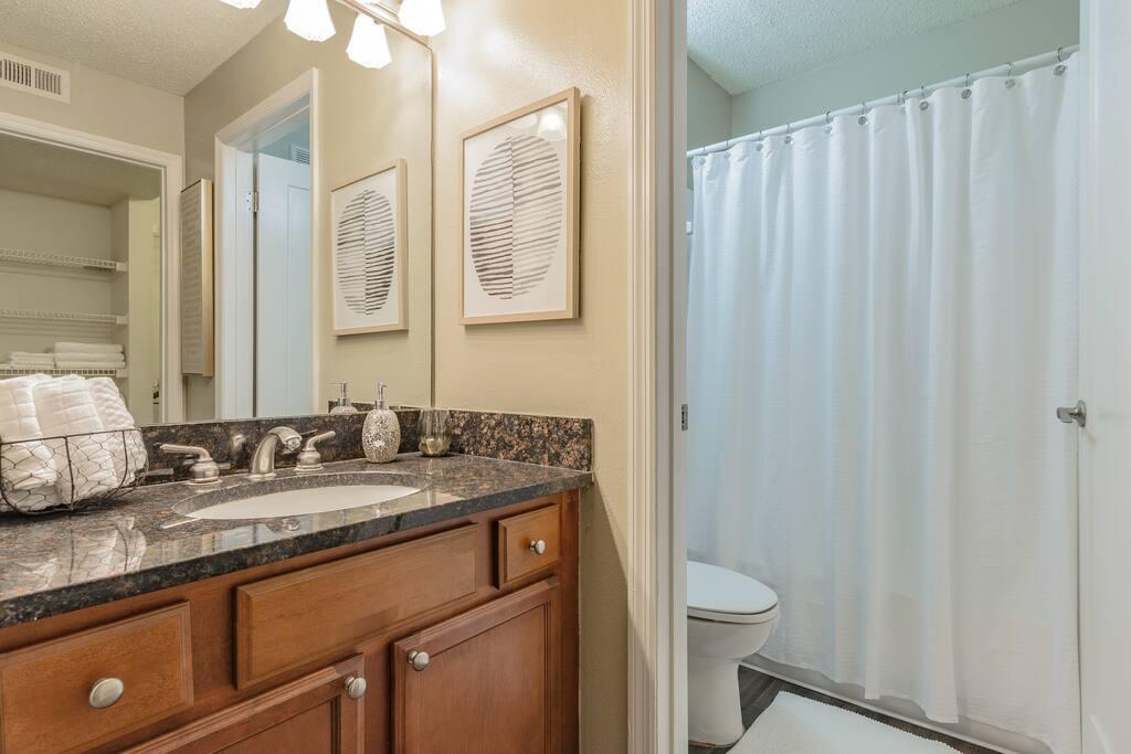 Vanity & Bathroom Area