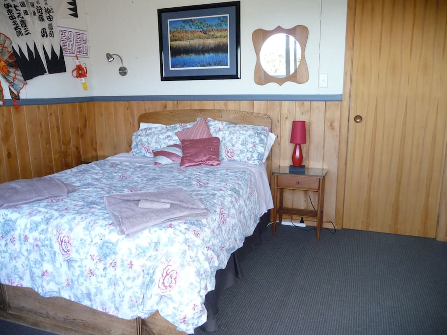 Double bedroom. $120 for a couple, $60 for each extra guest.