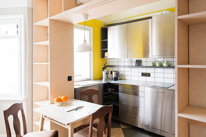 Designer flat with touch of history