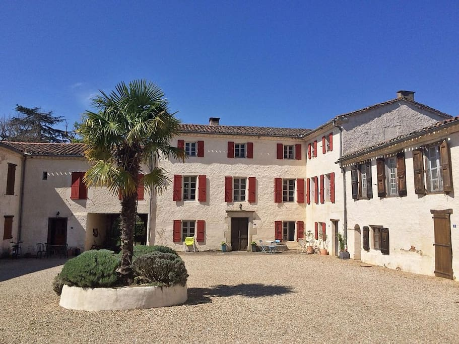 Shared courtyard and front of the house